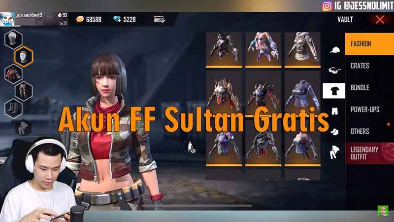350 Akun Ff Sultan Gratis Login Via Fb Asli No Hoax Aman
